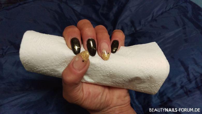 acrylmodellage schwarz und gold acryln gel. Black Bedroom Furniture Sets. Home Design Ideas