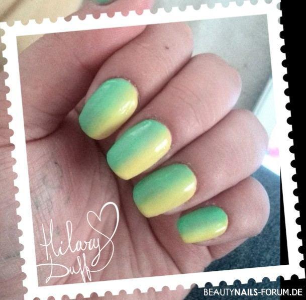acrylnägel mit gel farbverlauf Acrylnägel