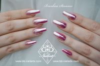 Coole Rosa Chrome Ballerinas Acrylnägel