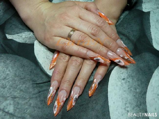 Edge Orange Acrylnägel