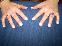 erste ma finger mit tips Acrylnägel