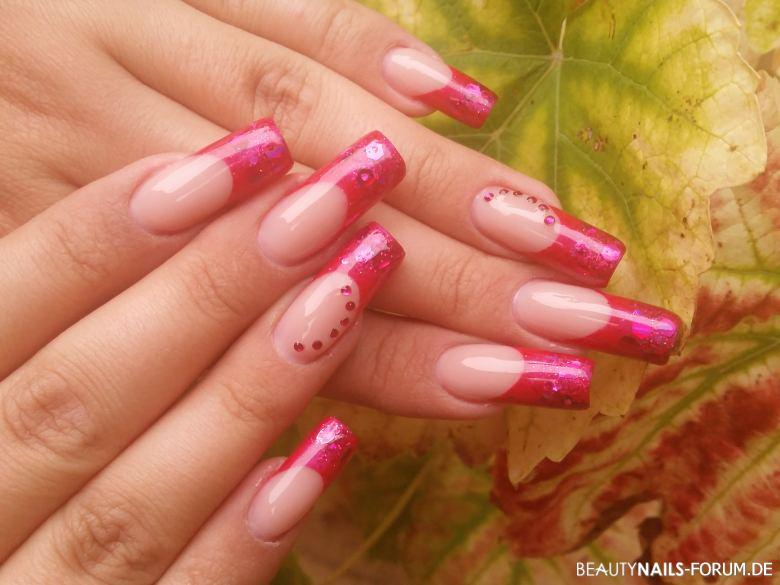 French pink mit Glitter