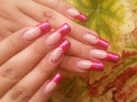French pink mit Glitter