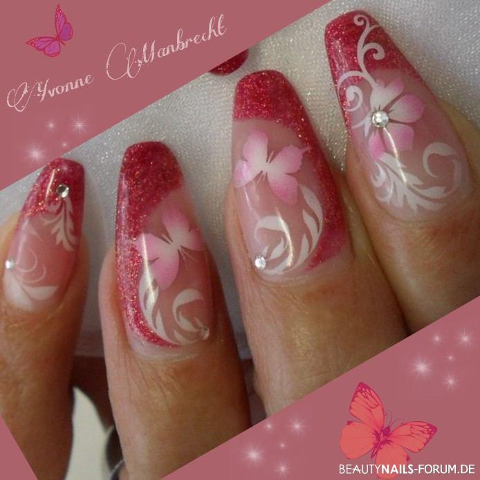 Strawberry Nails Mit Airbrush Sommer