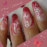 Strawberry Nails mit Airbrush Frühling- & Sommer