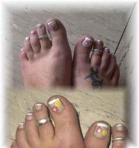 Füße mit Frooties Füsse