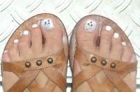 Hello Kitty Nail Art Füsse