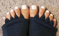 Nagellack weiß Füße Füsse