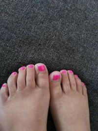 Neon Pink Gel Füsse