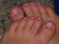 Pink Füsse