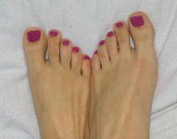 Pinker Nagellack Füße Füsse