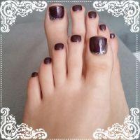 Schöne Füße mit UV-Gel Füsse