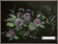 Blumen mit Acryl Farbe gemalt Gegenstände