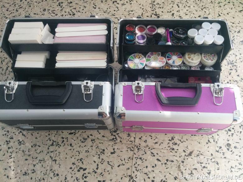 Nailart koffer Gegenstände