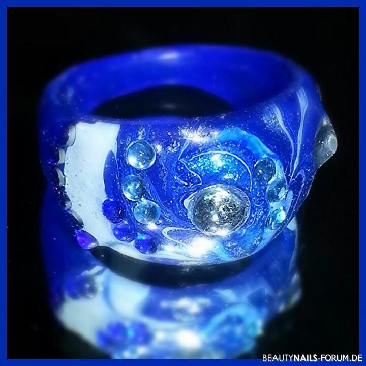 Water Marble Ring - blau / hellblau Gegenstände