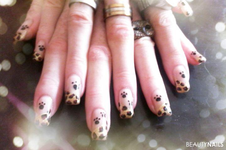 versuch leoparden muster - French Nagel Muster