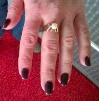 rote fingern gel full cover gelnagelmodellage mit. Black Bedroom Furniture Sets. Home Design Ideas