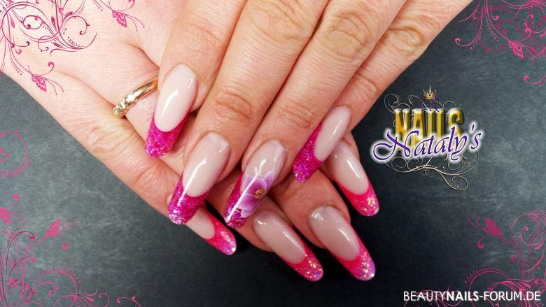 Gelmodellage pink , Sommer