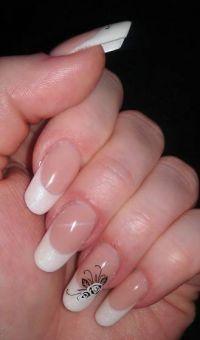 Gelnägel Pearl White Gelnägel