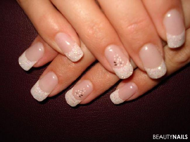 glitzer french geln gel