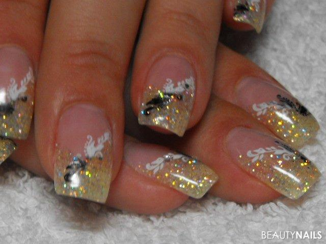 gold glitzer nailart geln gel. Black Bedroom Furniture Sets. Home Design Ideas