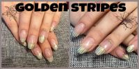 golden stripes - Frenchdesing & Stamping Gelnägel