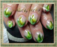 Grün Gelnägel