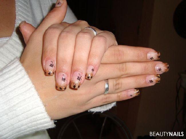 herbstliche Stimmung künstliche Fingernägel
