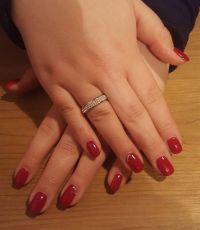 Klassische Gelnägel in rot - elegante Nailart Gelnägel