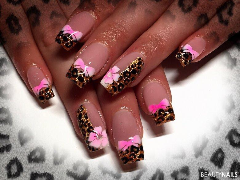 Nageldesign Galerie Leoparden Look mit Airbrush