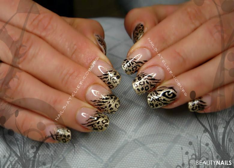 Leoparden-Tieger-Look