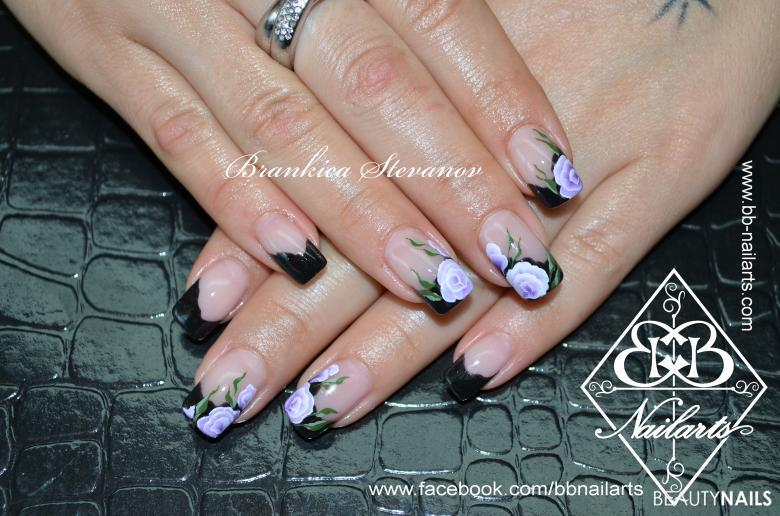 lilac roses Gelnägel