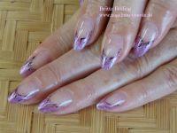 Mandeln mit Farbverlauf - Glitter - Malerei Gelnägel