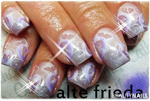 Metallic Violet Gelnägel - AB,Schabi von Brush it com Nail code Nailart