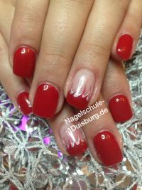 Nageldesign Fullcover in rot Gelnägel