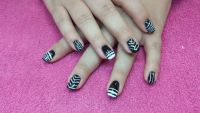 Nailart in black&white Gelnägel