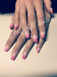 Ombre rosa-pink matt Gelnägel
