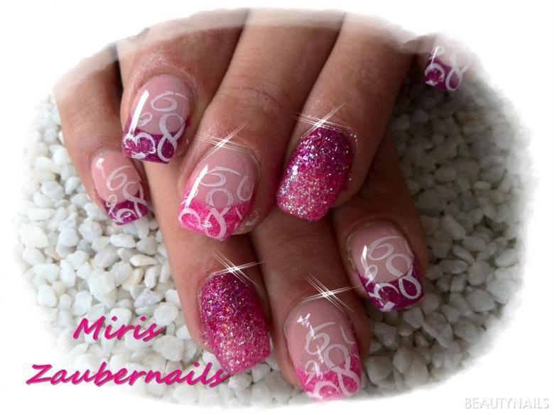 pink mit sandeffekt und stempel