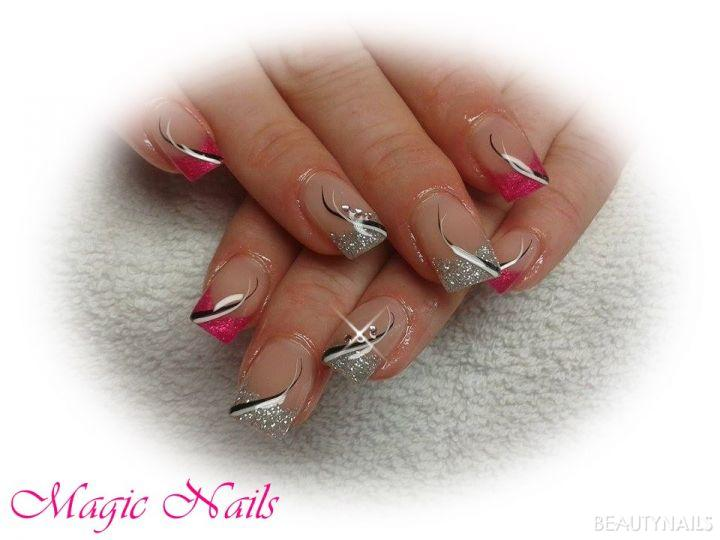 pink-silver glitter