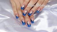 Süß Blau Gelnägel