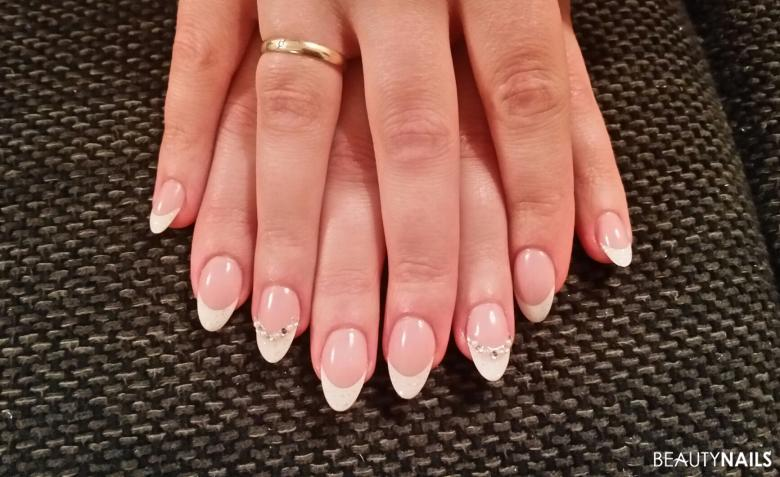 White french nails .