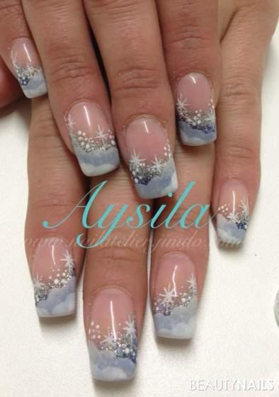 winter.... Gelnägel - malerei Nailart