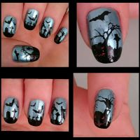Gruseliges Halloween Nageldesign Halloween Nägel