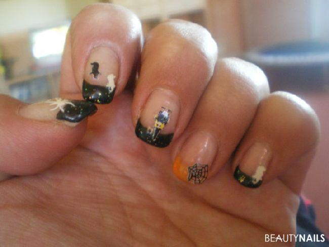 halloween glitzer naildesign