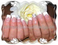 French extra white mit Acryl Blatt Hochzeitsnägel