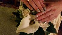 Fullcover Champagner Hochzeitsnägel