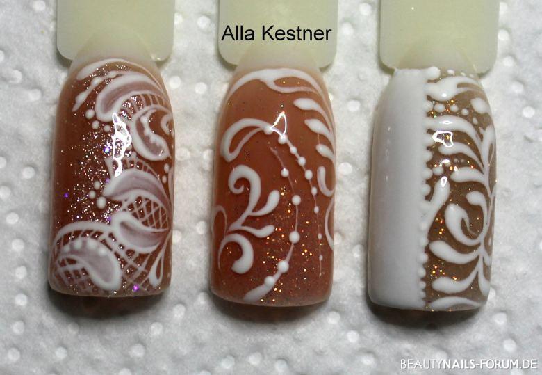 Hochzeit Design Hochzeitsnägel - one stroke Nailart