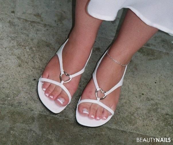Hochzeitsfüße - Nails bei der Hochzeit Hochzeitsnägel