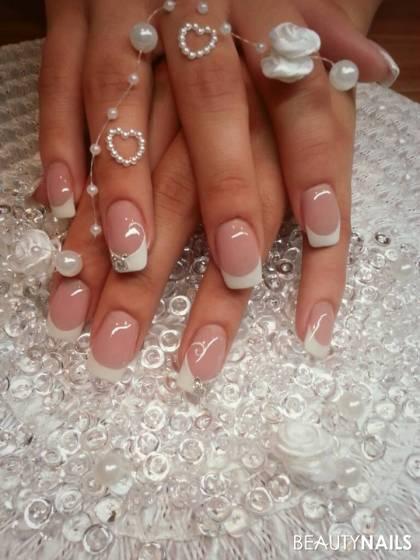 Hochzeitsnägel .. Hochzeitsnägel - extreme White .. Nailart
