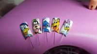 Disney Nailart - Donald, Goofy, Daisy, Pluto Mustertips